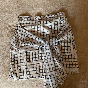 Wrap tie mini skirt